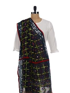 Multi Hued Phulkari Dupatta - Vayana
