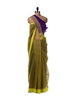 Double dyed cotton saree - DAMA