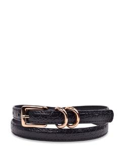 Black Layered Belt - Carlton London