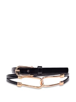 Loop Style Black Belt - Carlton London
