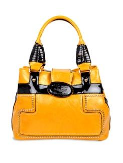 Yellow And Black Handbag - Carlton London