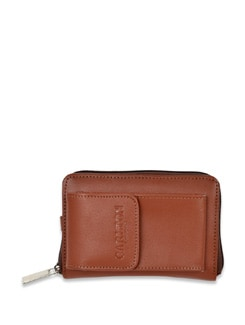 Brown Leather Wallet - Carlton London