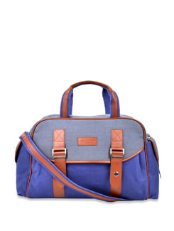 Dual Toned Handbag- Blue - Carlton London