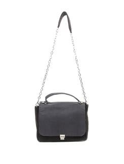 Dark Grey And Black Bag - Tamarind