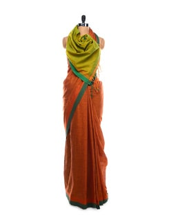 Sage Cotton Saree - Desiweaves