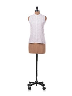White Chikankari Shirt - Vandeymatram