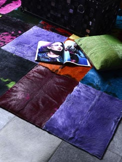 Multicolored Bovine Hide Carpet - Lthr