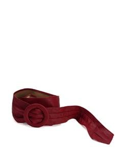 Maroon Pleated Belt - Addons