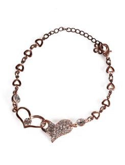 Copper Gold Heart Bracelet - Addons