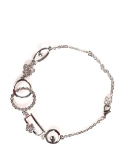 Silver Bracelet With Diamonds - Addons