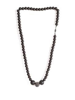Dark Grey Beaded Necklace - Addons