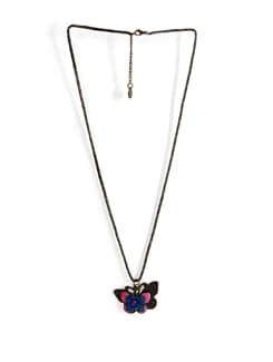 Multicoloured Butterfly Necklace - Addons
