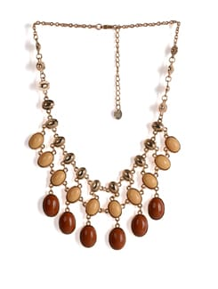 Beaded Gold Chain Necklace - Addons