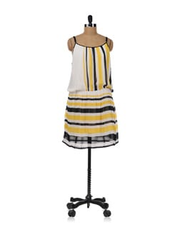 White Stripes Dress - AND