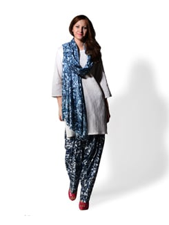 Blue Printed Patiala Salwar And Dupatta - WILD WOMAN