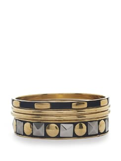 black & gold bangles - set of 4 - Toniq