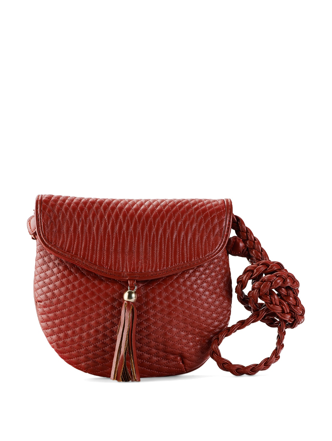 Red Quilted Sling Bag - Toniq