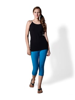 Turquoise Blue Mid-calf Tights - MARTINI