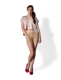 Beige Casual Short - MARTINI