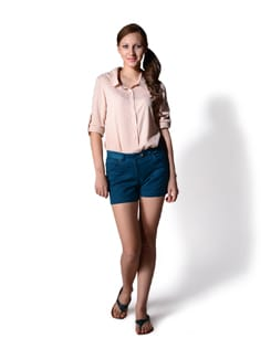 Dark Turquoise Formal Shorts - MARTINI