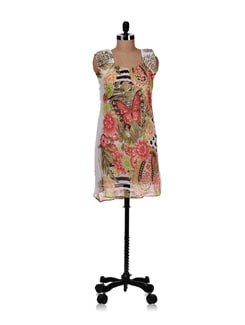 White Floral Tunic - Ayaany 17303