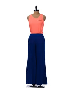 Classic Blue Pallazo Pants - Femella