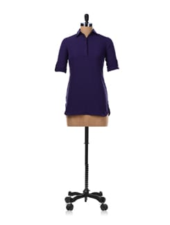 Purple Shirt Tunic - Femella