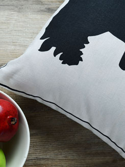 Lady Silhouette Cushion Cover - AMOROSA