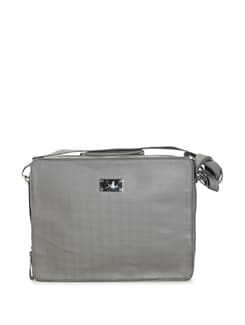 Grey Briefcase Style Laptop Bag - YELLOE