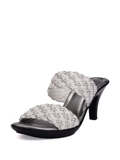 White And Silver Fancy Heels - La Briza