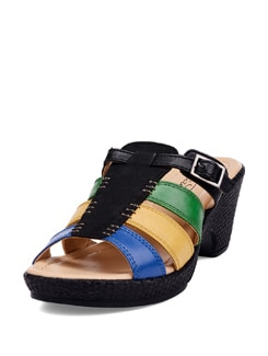 Multicoloured Black Wedge Heels - La Briza