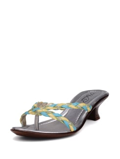 Yellow-blue Kitten Heels - La Briza
