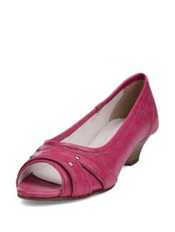 Pink Peep Toe Ballet Flats - La Briza
