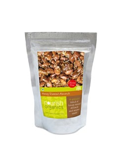 Honey Roasted Almonds - Nourish Organics