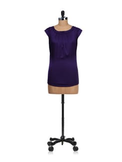 Purple Embellished Satin Top - SPECIES
