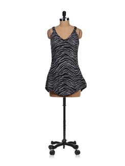 Black Animal Print Top - SPECIES