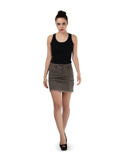 Brown Rough Edges Skirt - SPECIES