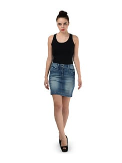 Denim Washed Skirt - SPECIES
