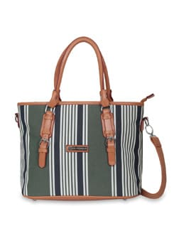 Green Striped Bag - Lino Perros
