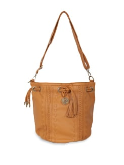 Tan Bag With Tassle - Lino Perros