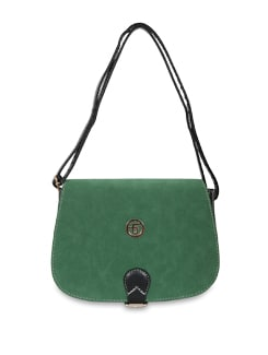 Green And Black Sling Bag - Lino Perros