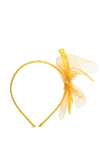 Sunny Yellow Lace Bow Hair Band - Toniq
