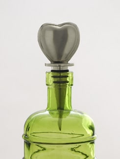 Heart Shaped Bottle Stopper - AG