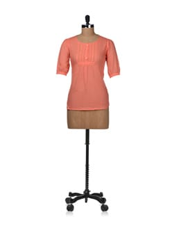 Trendy Orange Top - STYLE QUOTIENT BY NOI