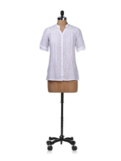 Self Print Cotton Shirt - STYLE QUOTIENT BY NOI