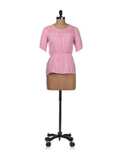 Patel Pink Lace Top - STYLE QUOTIENT BY NOI