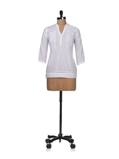 Sheer White Tunic - STYLE QUOTIENT BY NOI