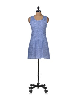 Trendy Blue Dress - STYLE QUOTIENT BY NOI