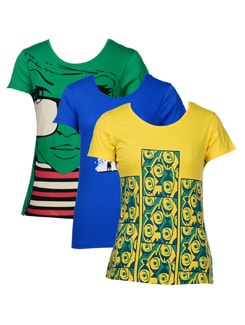 Cotton Basics-t-shirts In A Pack Of 3 - STYLE QUOTIENT BY NOI