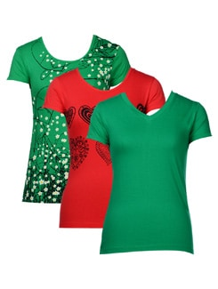 Quirky t-shirts- pack of 3 - STYLE QUOTIENT BY NOI